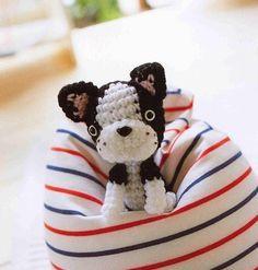 amigurumi , Looks like a Boston Terrier! Crochet Amigurumi Free Patterns, Crochet Dolls, Crochet Baby, Crocheted Toys, Irish Crochet, Knitting Patterns, Crochet Projects, Sewing Projects, Cute Elephant