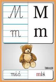 Znalezione obrazy dla zapytania litery przedszkole Reading Skills, Writing Skills, Polish Language, Kids Learning, Montessori, Alphabet, Teddy Bear, Education, Children