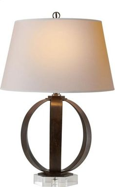 CHA8530AINP in Aged Iron With Wax by Visual Comfort in Bowling Green, KY - Visual Comfort CHA8530AI-NP E.F. Chapman Metal Banded 29 inch 100 watt Aged Iron with Wax Decorative Table Lamp Portable Light