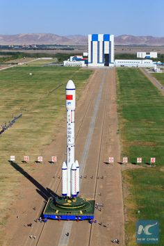 Tiangong-2, China's second space station, rolls to pad. China is just days…