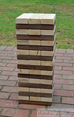 Giant Jenga | Wedding Lawn Game | Lawn Jenga, |Party Jenga | Natalie Bradley Events | Southern Event Planning | Event Arts and Crafts