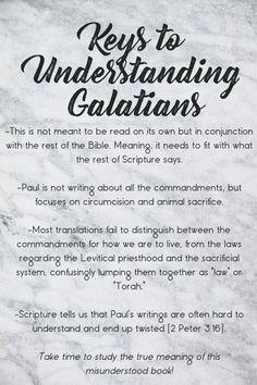 Key Points to Understanding Galatians Scripture Memorization, Bible Verses, Book Of Galatians, Colossians 2, Melchizedek Priesthood, Sabbath Day, Bible Study Tips, Biblical Inspiration, Lion Of Judah