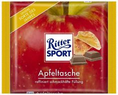 RITTER SPORT Fake Schokolade Sorte Apfeltasche