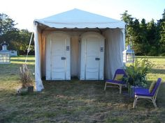 decorate porta potty tent