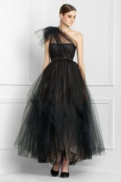 Elegant Black Dress One Shoulder Tulle Gown Dark Venges Bcbg Dresses, Maxi Gowns, Tulle Gown, Bcbgmaxazria Dresses, Sexy Dresses, Evening Dresses, Fashion Dresses, Gown Dress, Dress Prom