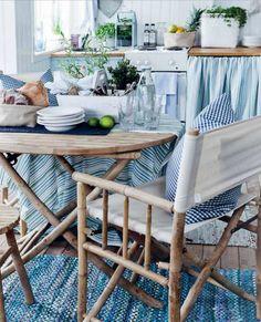UNA COCINA EN AZUL Y MADERA NATURAL / KITCHEN IN BLUE AND NATURAL WOOD | desde my ventana | blog de decoración |