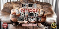 Check out these top 10 tattoos for men that women find attractive, written by a woman. You will be surprised at the results! Top Tattoos, Sexy Tattoos, Girl Tattoos, Tattoos For Guys, Tatoos, Wild Tattoo, Tattoo You, Tribal Tattoo Designs, Tattoo Designs For Women