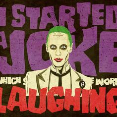 I started a joke that started the whole world laughing. But I didn't see that the joke was on me.