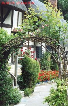 anne hathaway cottage stratford upon avon | Anne Hathaway's Cottage garden, near Stratford-upon-Avon