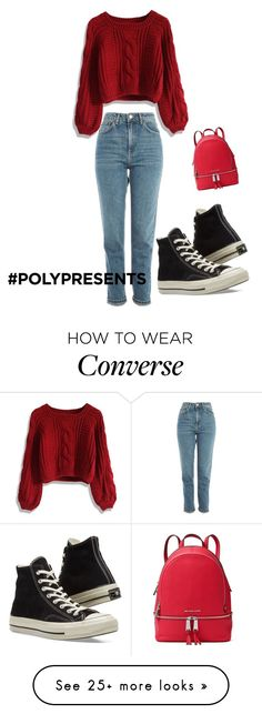 """#PolyPresents: Wish List"" by meygan3825 on Polyvore featuring Topshop, Chicwish, Converse, MICHAEL Michael Kors, contestentry and polyPresents"