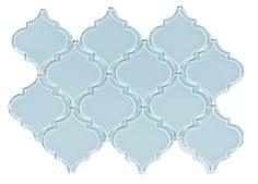 Show vapor arabesque glass tile