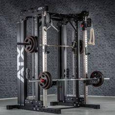 Home Gym Garage, Diy Home Gym, Gym Room At Home, Half Rack, Pull Up Station, Pull Up Bar, Home Multi Gym, Smith Machine, Home Gym Design