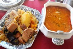 Potaje de coles o berza, receta tradicional malagueña Spanish Kitchen, Spanish Food, Spanish Recipes, Mexican Food Recipes, Ethnic Recipes, Goulash, Malaga, Flan, Stew