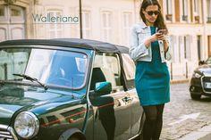 Bonjour Paris, collants galbants à compression douce by Walleriana - lookbook été 2015 #paris #montmartre #summerlook #plumetis #gambettes #frenchbrand #mode