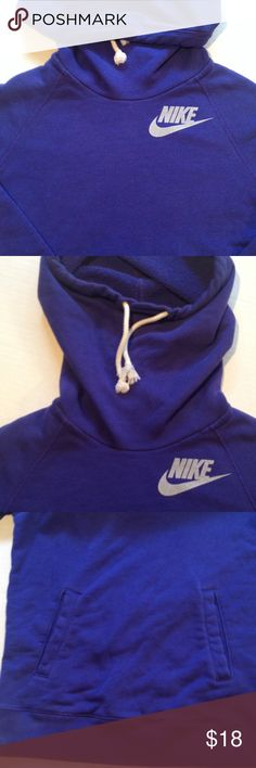 Nike hoodie Washed and worn Nike  hoodie with x- large hood for cold weather. This style has the string sewn in an permanent place. Extra room for a cozy fit. Chest measures 34. Nike Tops Sweatshirts & Hoodies