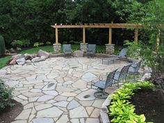 Like this patio, but how hard would it be to keep weeds from coming between the stones?