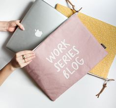 Modern Laptop Sleeve - 'Work Series Blog' - MacBook Case One Size Fits Most