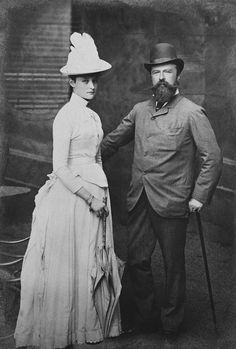 Louis IV, Grand Duke of Hesse, with Princess Alix, 1889.
