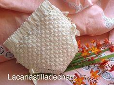 LA CANASTILLA DE CHARO: CUBRE PAÑAL- BRAGA, BASICO 0-3 MESES Baby Knitting Patterns, Knitting For Kids, Baby Patterns, Crochet Baby, Knit Crochet, Tricot Baby, Baby Bloomers, Baby Pants, Yarn Colors