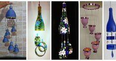 Aprende cómo hacer campanas de viento con botellas recicladas Diy Plastic Bottle, Diwali Decorations, Garden Crafts, Wind Chimes, Recycling, Wine, Outdoor Decor, Home Decor, Bookcase