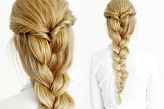 Easy Fall Braid Hairstyle using Estelles Secret hair extensions. Visit our website EstellesSecret.com or YouTube channel for more hairstyle inspiration. #EstellesSecret #clipinhairextensions #braid