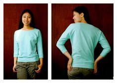 T-Shirt mit Dolman Ärmeln