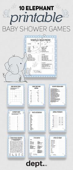 4077a6d75 Are you planning a blue elephant themed baby shower soon for boys or girls.  Then