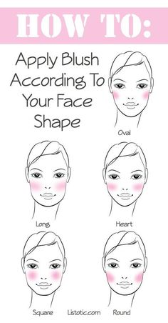 How To Apply Blush For Your Face Shape.  Get great Younique blush here. #makeup tips, #blush, #younique