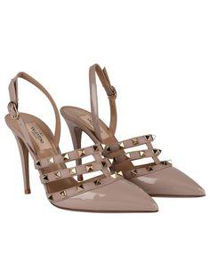 c44d52877ea Valentino - Brown Rockstud 100 Court Heels - Lyst Court Heels