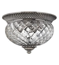Hinkley 4102PL Plantation 2 Light 12 inch Polished Antique Nickel Flush Mount Ceiling Light #lightingnewyork #lny #lighting