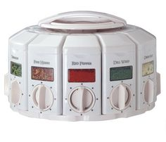 KitchenArt 25000  Auto Measure Spice Carousel without Spices, White, http://www.amazon.com/dp/B00004VWIP/ref=cm_sw_r_pi_awdm_3nzFvb1TJQYTD