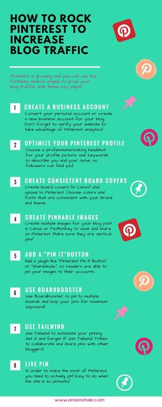 How to Rock Pinterest to Increase Blog Traffic Pinterest tips and tricks to boost your blog traffic! How to use Pinterest if you are a blogger. #PinterestMarketing #socialmediamarketing #blogging #SMM #infographic #tips