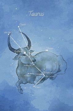 Astronomy art Taurus constellation by LaPetiteMascarade on Etsy Taurus Art, Taurus Bull, Taurus And Gemini, Aquarius, Zodiac Art, My Zodiac Sign, Astrology Zodiac, Astrology Signs, Zodiac Taurus