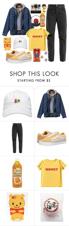 """🇯🇵 🇯🇵™"" by kendra-adame ❤ liked on Polyvore featuring Polaroid, RE/DONE, Vans and MIEL"