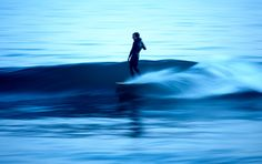 Longboard and a slow wave