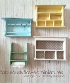 Cottage Shelves coming to Etsy by fabulouslyflawedminiatures.blogspot.com