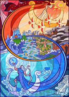 Artist Jian Guo has taken passages, characters and scenes from the Lord of the Rings and Hobbit books by JRR Tolkien and created beautiful digital stained glass works of art. Asterix Y Obelix, O Hobbit, Jrr Tolkien, Art Moderne, Stained Glass Art, Middle Earth, Lord Of The Rings, Lotr, Bunt