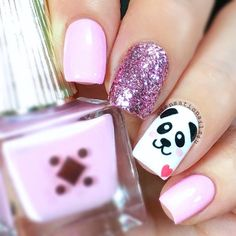 Cute nail designs are the ones that make you look and feel special. That is why in case you are at a loss for ideas, we may have some suggestions, to help you out, in mind. herz 27 Ideas of Cute Nail Designs to Melt Your Heart Trendy Nail Art, Stylish Nails, Cool Nail Art, Panda Nail Art, Animal Nail Art, Girls Nail Designs, Cute Nail Designs, Nails For Kids, Girls Nails