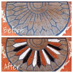 Turn an old, ugly rug into Halloween decor! - pamelapetrus.com