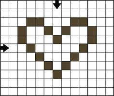 Free Cross Stitch Pattern - Mini Heart C - Open Heart Cross Stitch Pattern