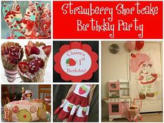 Strawberry Shortcake Birthday Party by Everyday Art