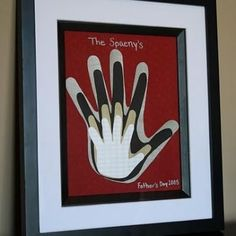Framed Family Handprints Crafts for Fathers Day