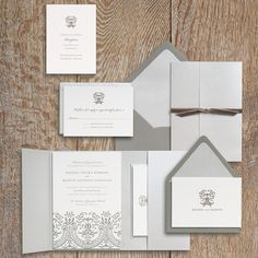 Shades of Gray with Damask - Paper Source
