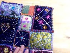 Fabric journal inspired by Teesha Moore - How To Forge Fabric Book Covers, Fabric Books, Fabric Patch, Fabric Art, Embroidery Applique, Cross Stitch Embroidery, Sewing Crafts, Sewing Projects, Crazy Patchwork
