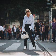 Celine Aagaard - Ph @mattiarioli #celineaagaard #mattiarioli #jilsander #showbit #milan #milanfashionweek #mfw #fashion #fashionweek #streetstyle #street