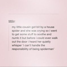 We Aren't All Cut Out to be Web-Slingers