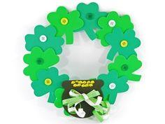 St. Patricks Day Shamrock Wreath