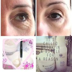 These gentle products work together to temporarily smooth and tone the skin on your face… Nu Skin, Face Skin, Facelift In A Bottle, Healthy Skin Care, Skin Firming, Organic Skin Care, Organic Baby, Anti Aging Skin Care, Skin Care Tips