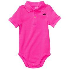 Short-Sleeve Polo Bodysuit | Baby Boy Tops