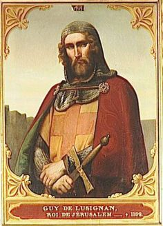 Guy de Lusignan, House of Lusignan, King of Jerusalem King of Cyprus Knights Hospitaller, Knights Templar, Crusader States, Kingdom Of Jerusalem, Crusader Knight, High Middle Ages, Armadura Medieval, European History, American History